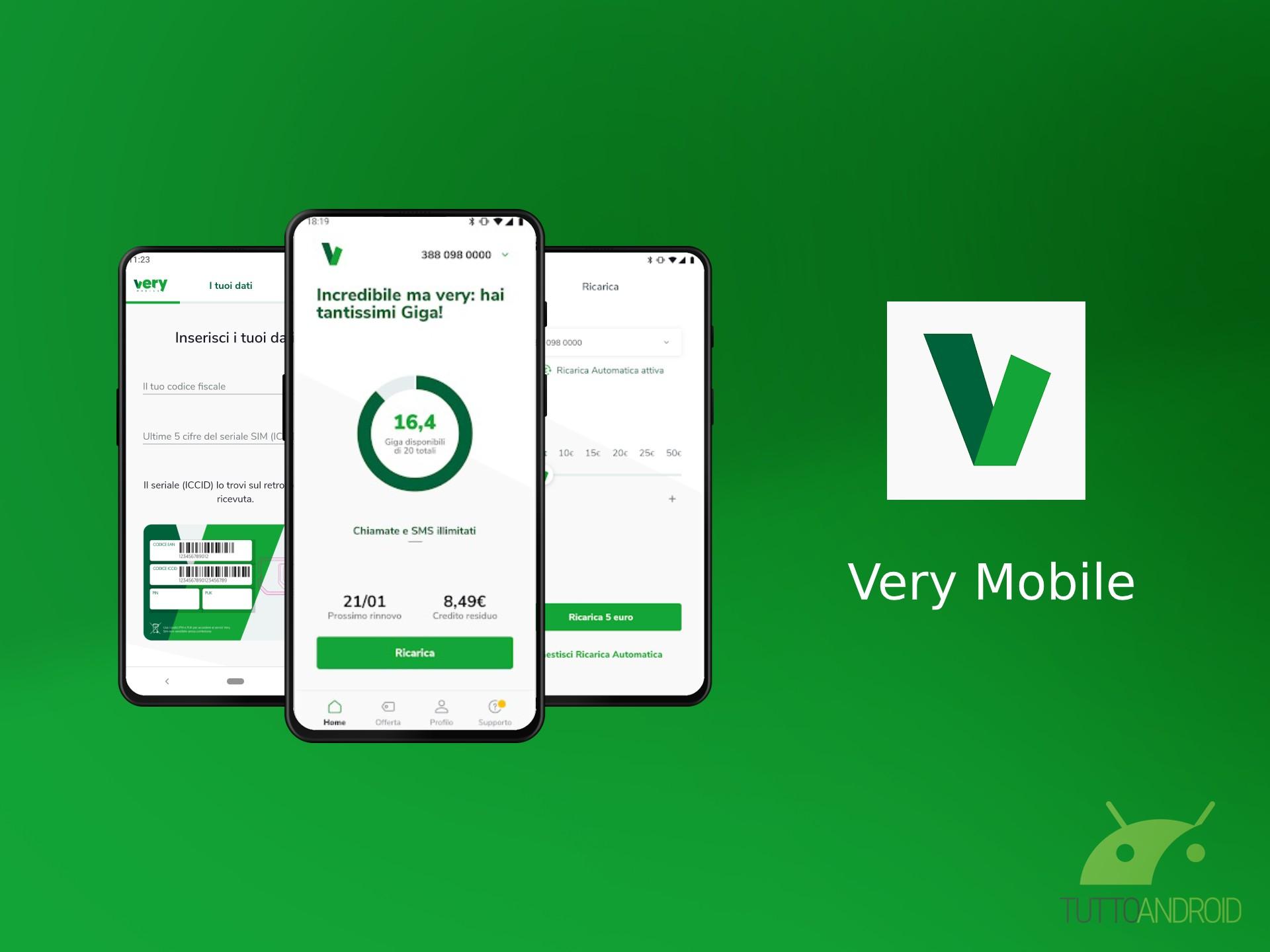 L'app ufficiale di Very Mobile è già disponibile nel Play St