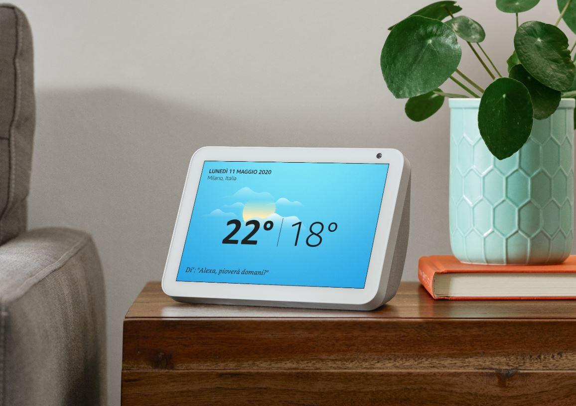 Amazon Echo Show 8 arriva in Italia con un display da 8″ e u