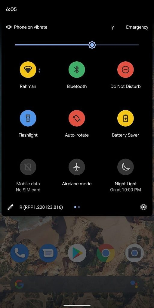 android 11 quick settings icone colorate