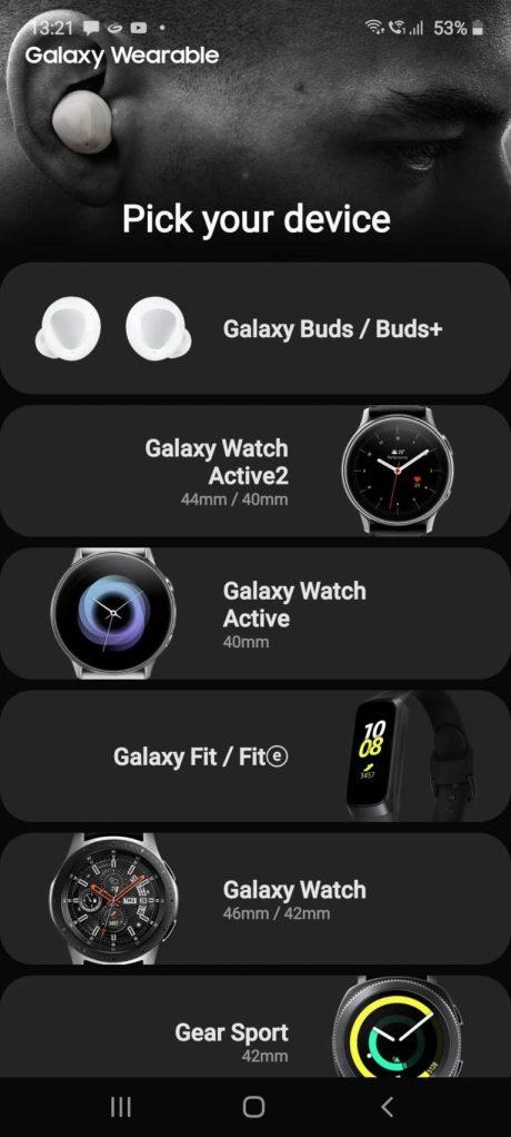 galaxy buds+ app galaxy wearable
