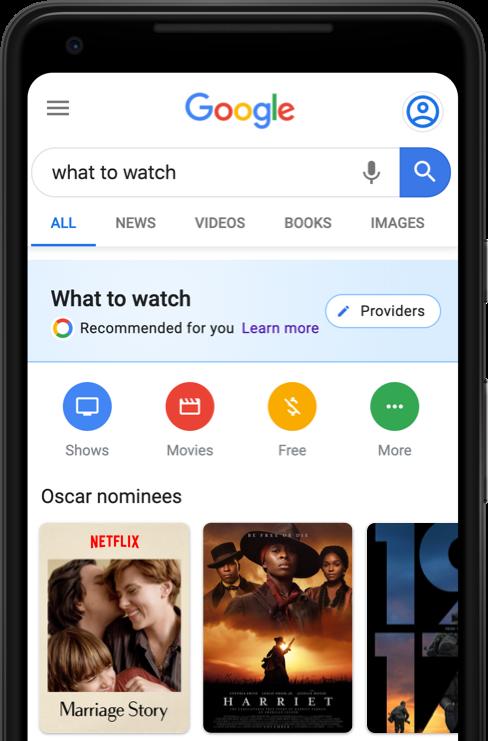 google assistant ricerca oscar 2020