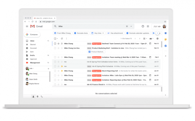 google gmail ricerca novità youtube music upload brani