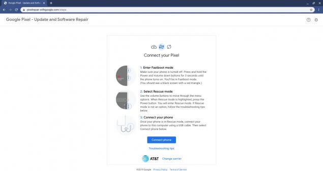 google pixel repair tool come funziona