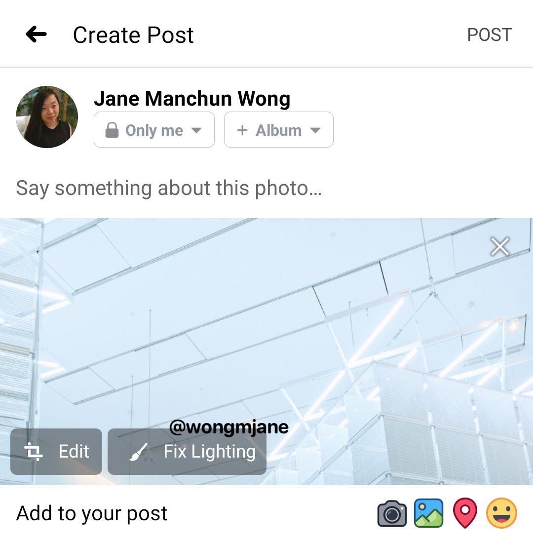 Facebook suggerimenti modifica foto