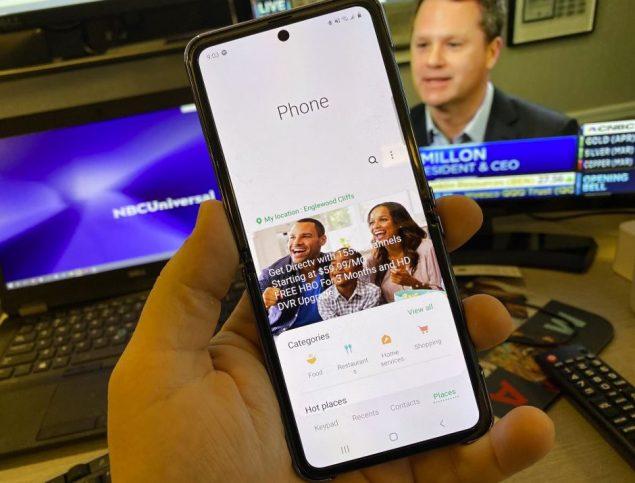 samsung galaxy z flip display polvere app telefono pubblicita
