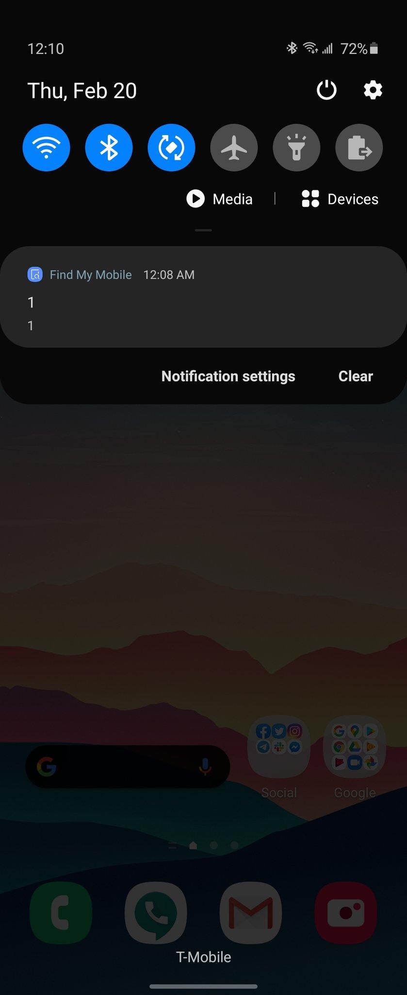 Samsung notifica