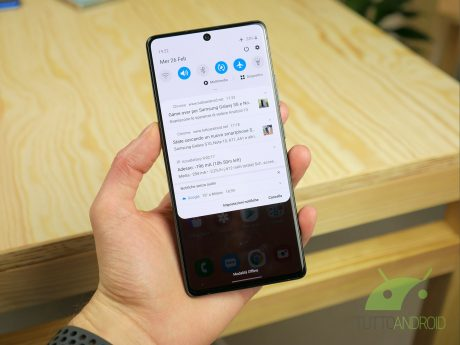 Samsung Galaxy S10 Lite notifiche