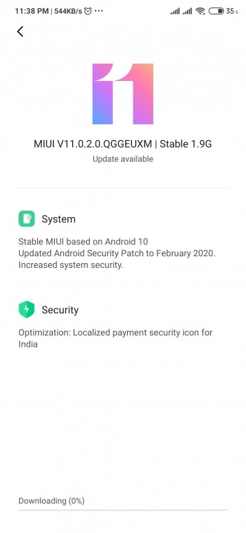 Android 10 Redmi Note 8 Pro