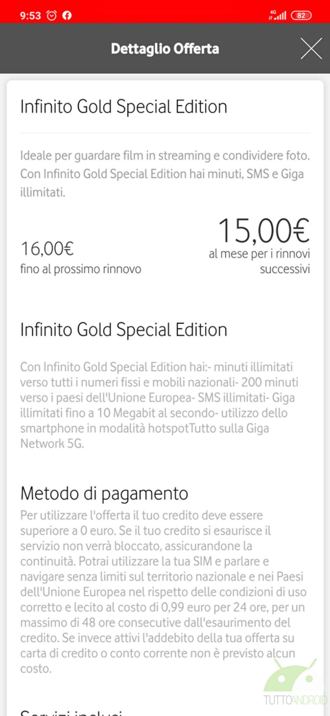 Vodafone Infinito Gold Edition