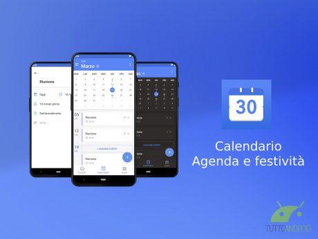 Calendario Agenda e festività
