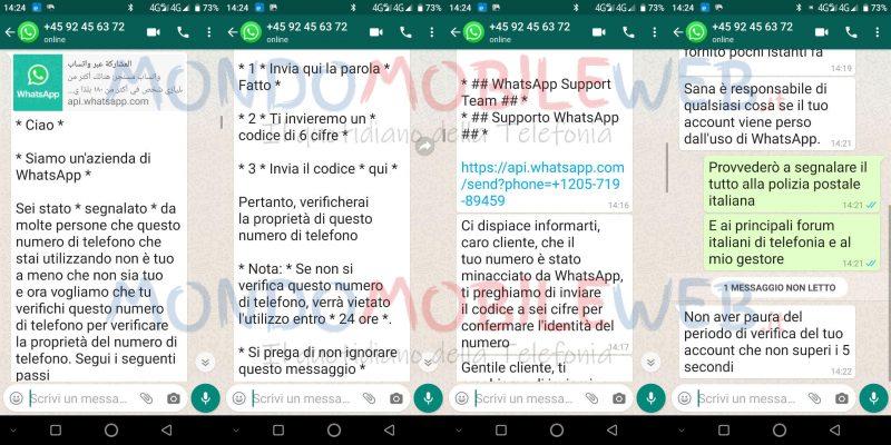 truffa whatsapp furto d'identità
