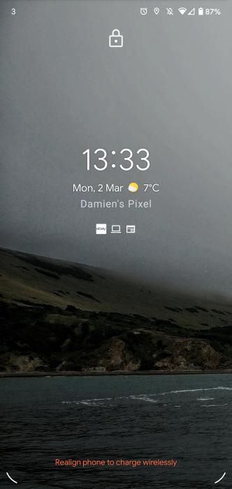 android 11 developer preview avviso ricarica wireless posizione smartphone