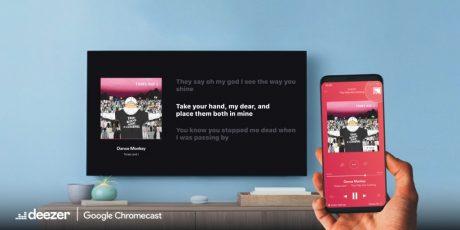 deezer google chromecast supporto testi canzoni
