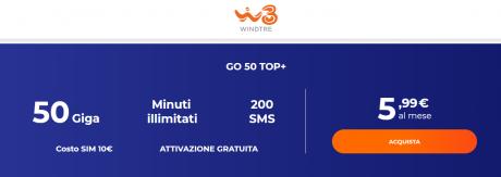 windtre go top 50+