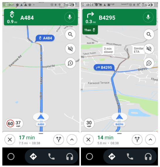 Google Maps limiti velocità