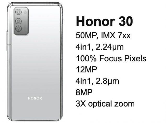 honor 30 50 mp fotocamera rumor leak