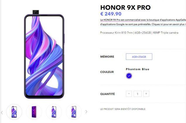 honor 9x pro prezzo europa