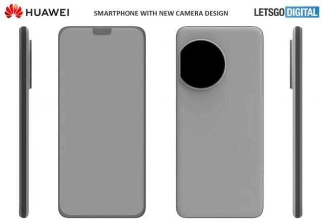 huawei brevetto design fotocamera posteriore circolare