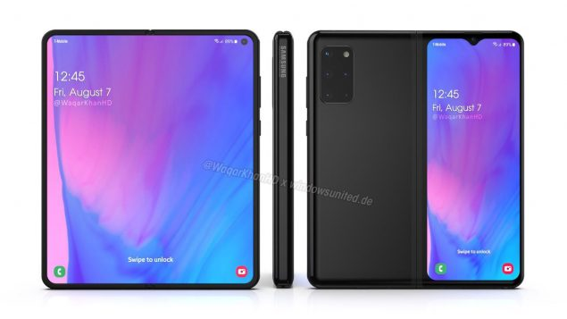 samsung galaxy fold 2 render design