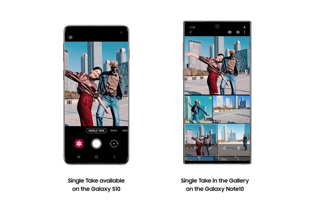 samsung galaxy s10 note 10 single take galleria intelligente quick share aggiornamento