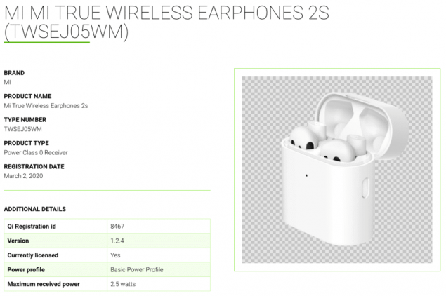 xiaomi mi true wireless earphones 2s leak specifiche