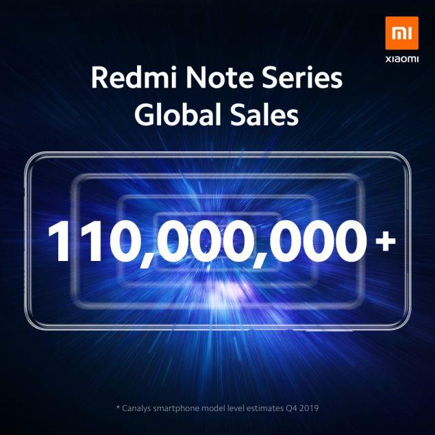 xiaomi redmi note serie 110 milioni vendite