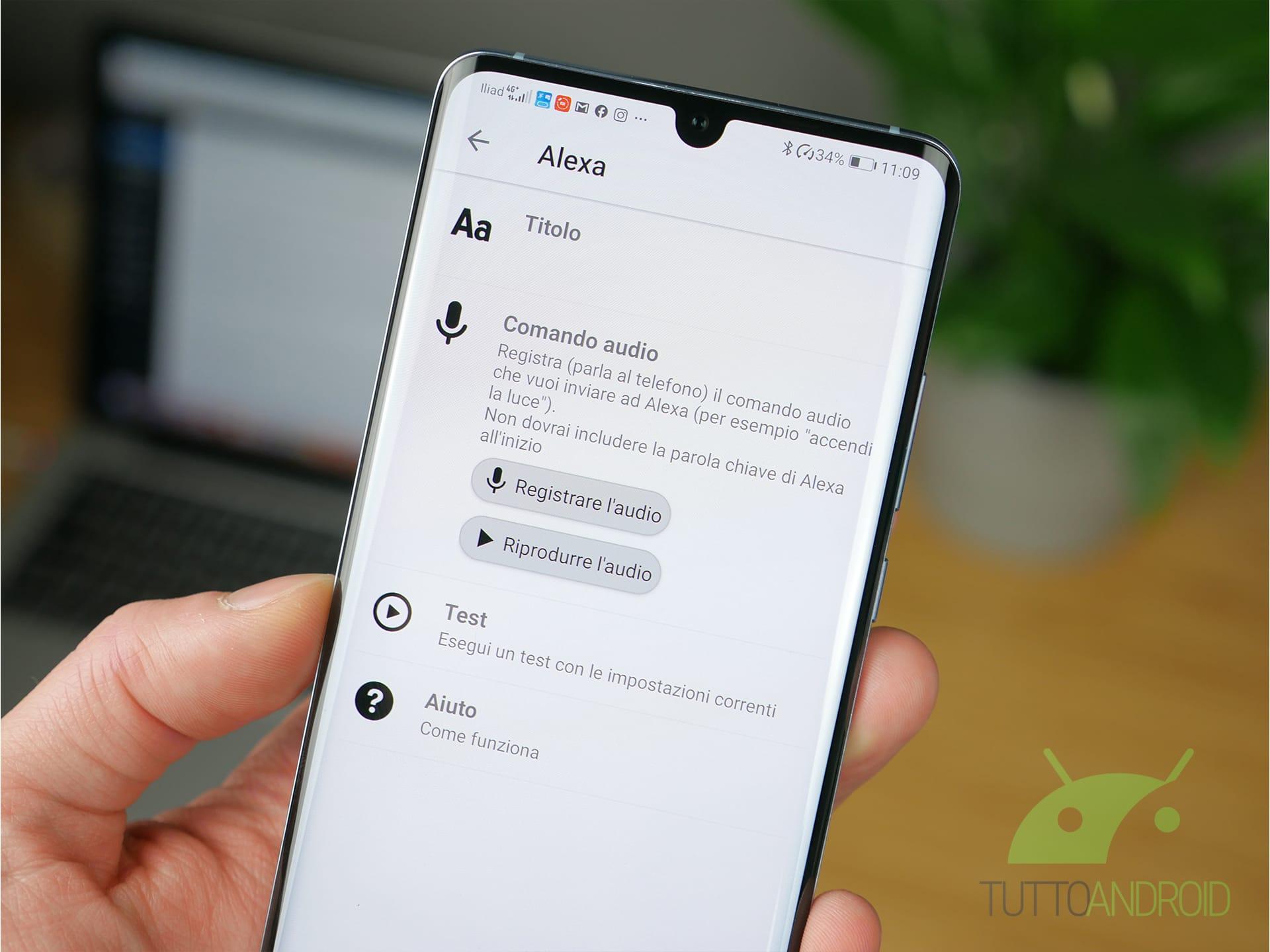 Xiaomi Mi Band 4 personalizzazione Alexa