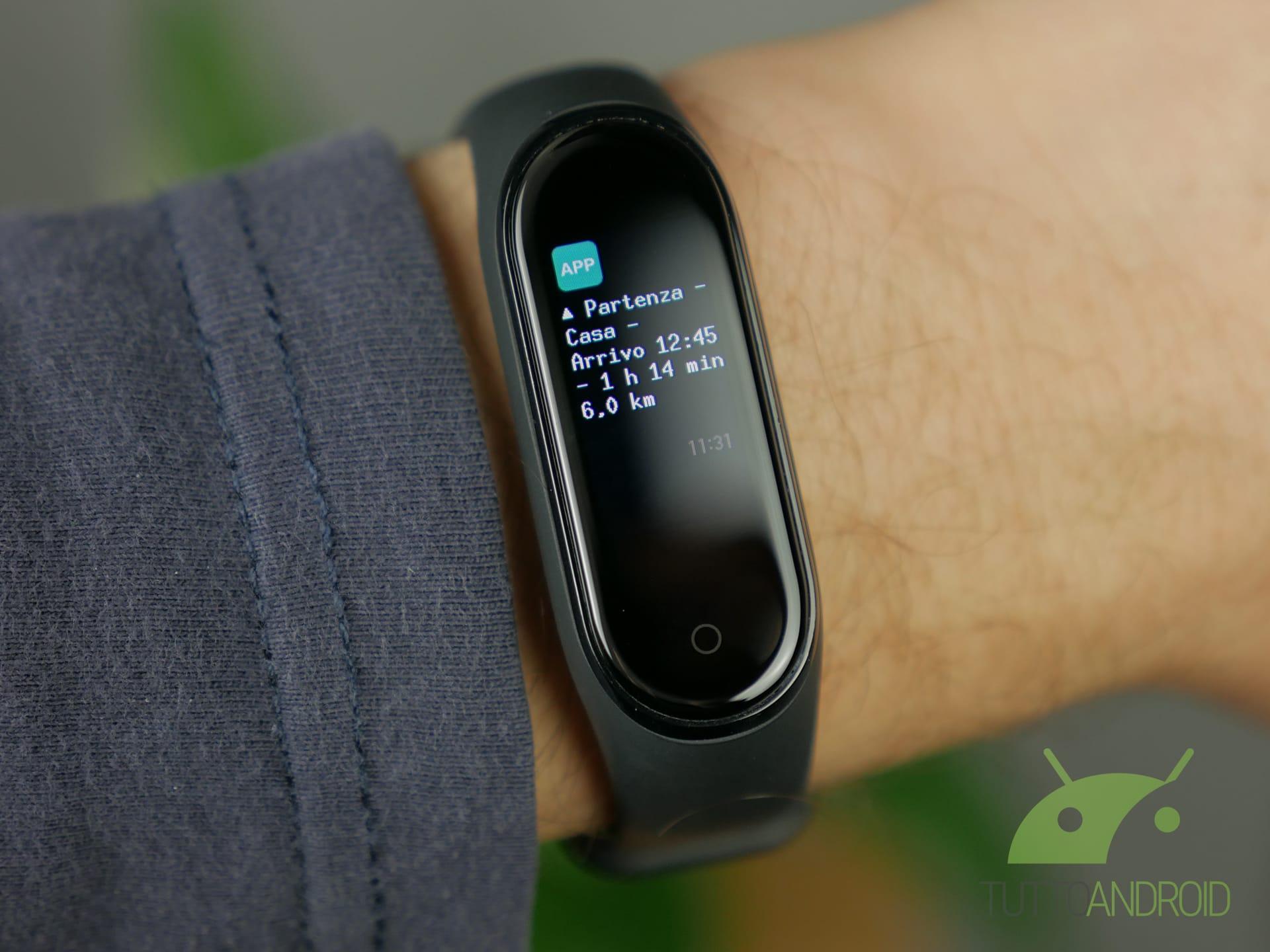 Xiaomi Mi Band 4 personalizzazione indicazioni mappe