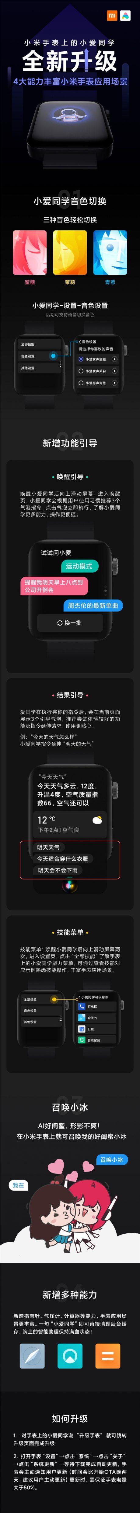 Xiaomi Mi Watch aggiornamento