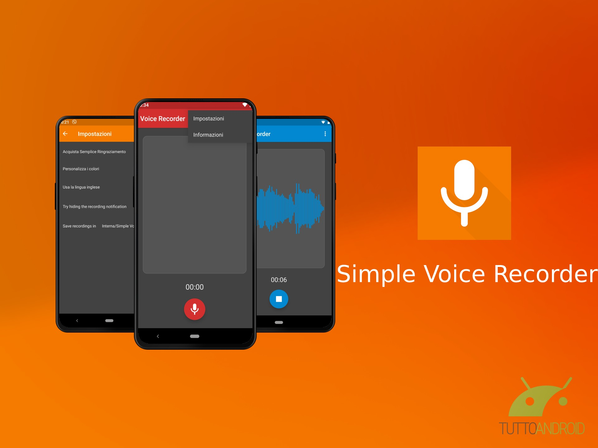 Simple Voice Recorder è un registratore vocale utile e senza