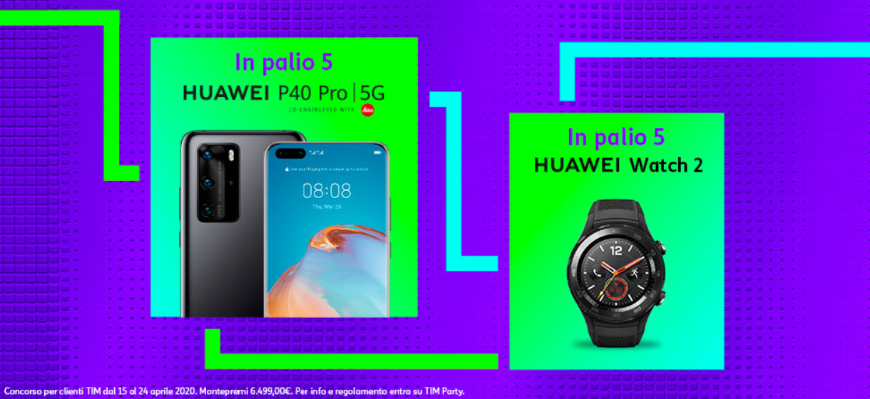 TIM Party, concorso Huawei P40 Pro