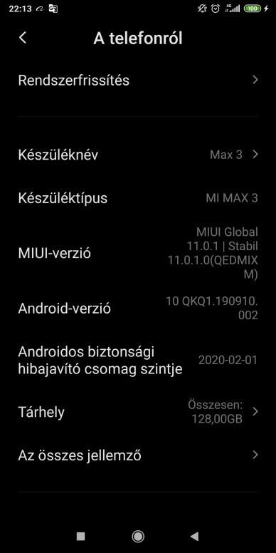 xiaomi mi max 3 aggiornamento android 10