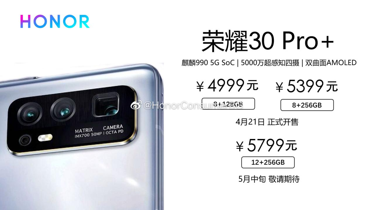 HONOR 30 Pro+ poster