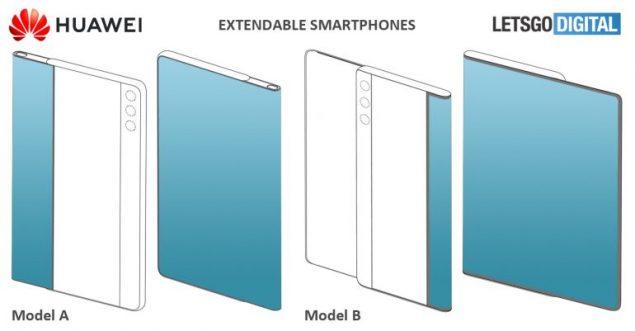 huawei smartphone display estraibile brevetti