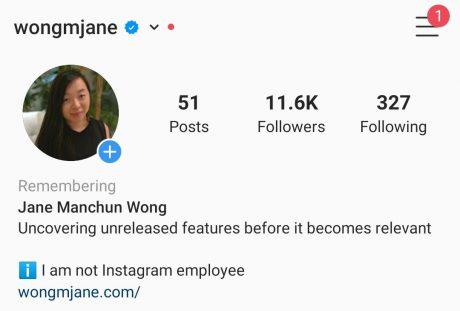 instagram profilo commemorativo