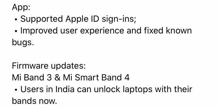 aggiornamento Xiaomi Mi Band 4