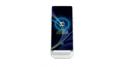 oneplus 8 pro dock ricarica wireless render