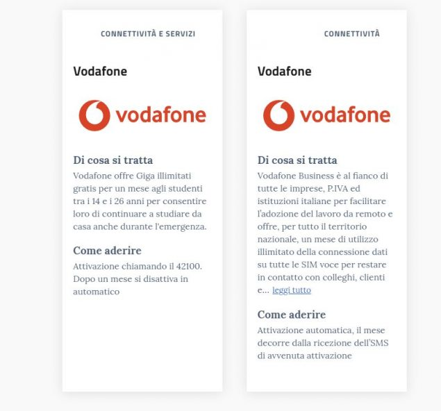 vodafone giga illimitati gratis 13 aprile 2020
