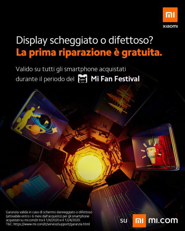 xiaomi garanzia protezione dello schermo mi fan festival 2020