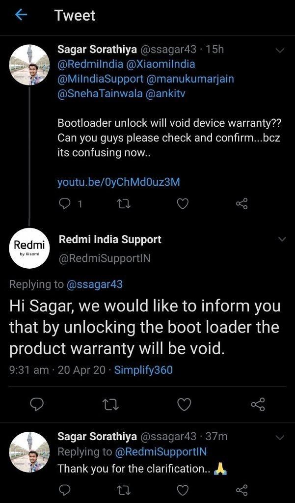 Xiaomi Redmi sblocco bootloader
