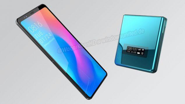 xiaomi smartphone pieghevole design render