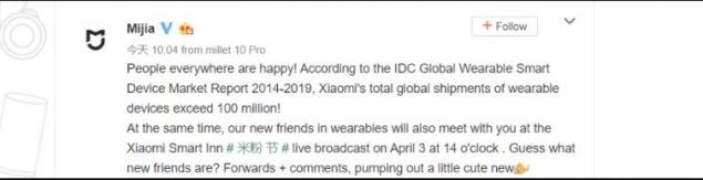 xiaomi vendite wearable 100 milioni mi band 5 poster