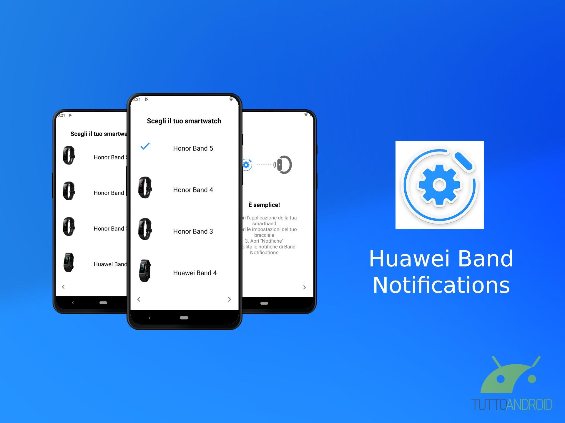Quest'app corregge le notifiche su smartband e smartwatch Hu
