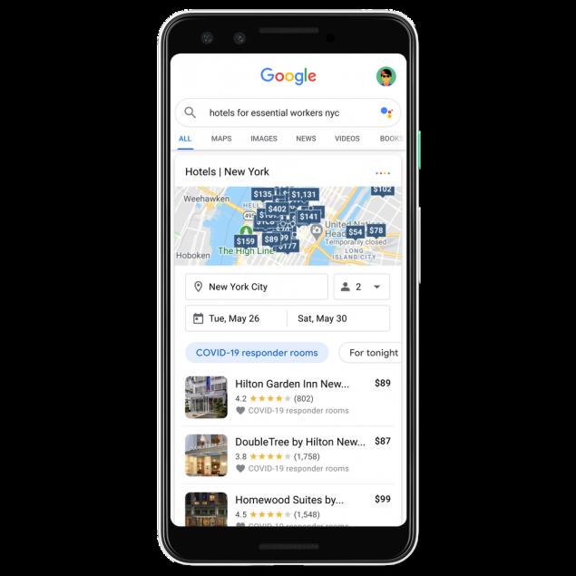 Google Maps alberghi covid-19