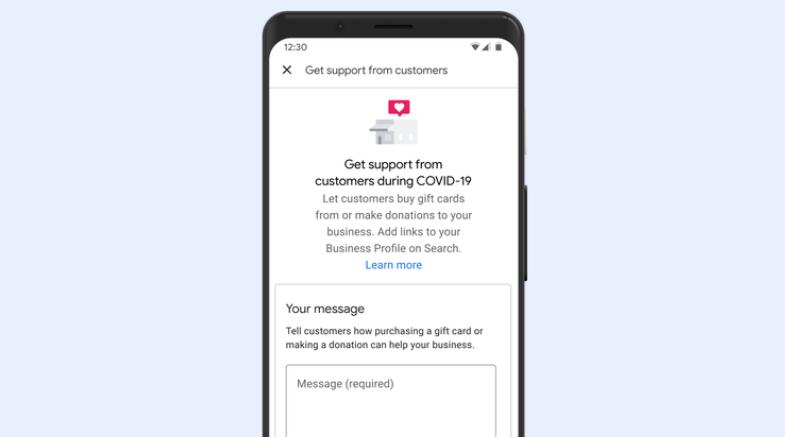 Google supporto aziende
