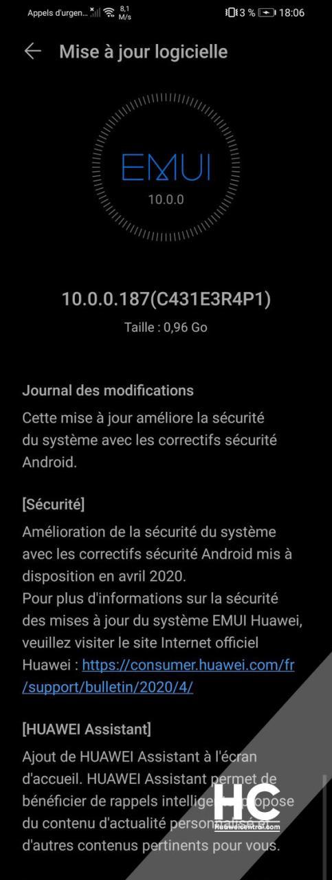 huawei p smart 2019 aggiornamento