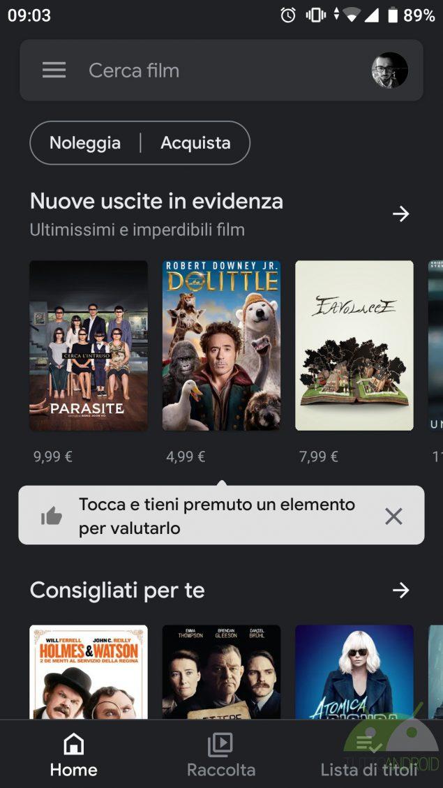 youtube music google play film nuovo design