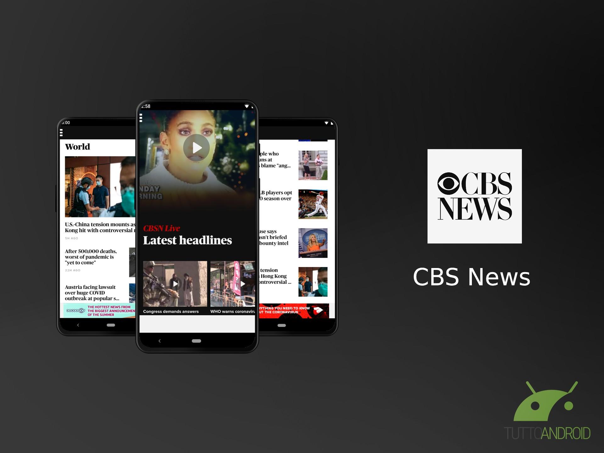 CBS News è l'app giusta per rimanere costantemente informati sugli USA