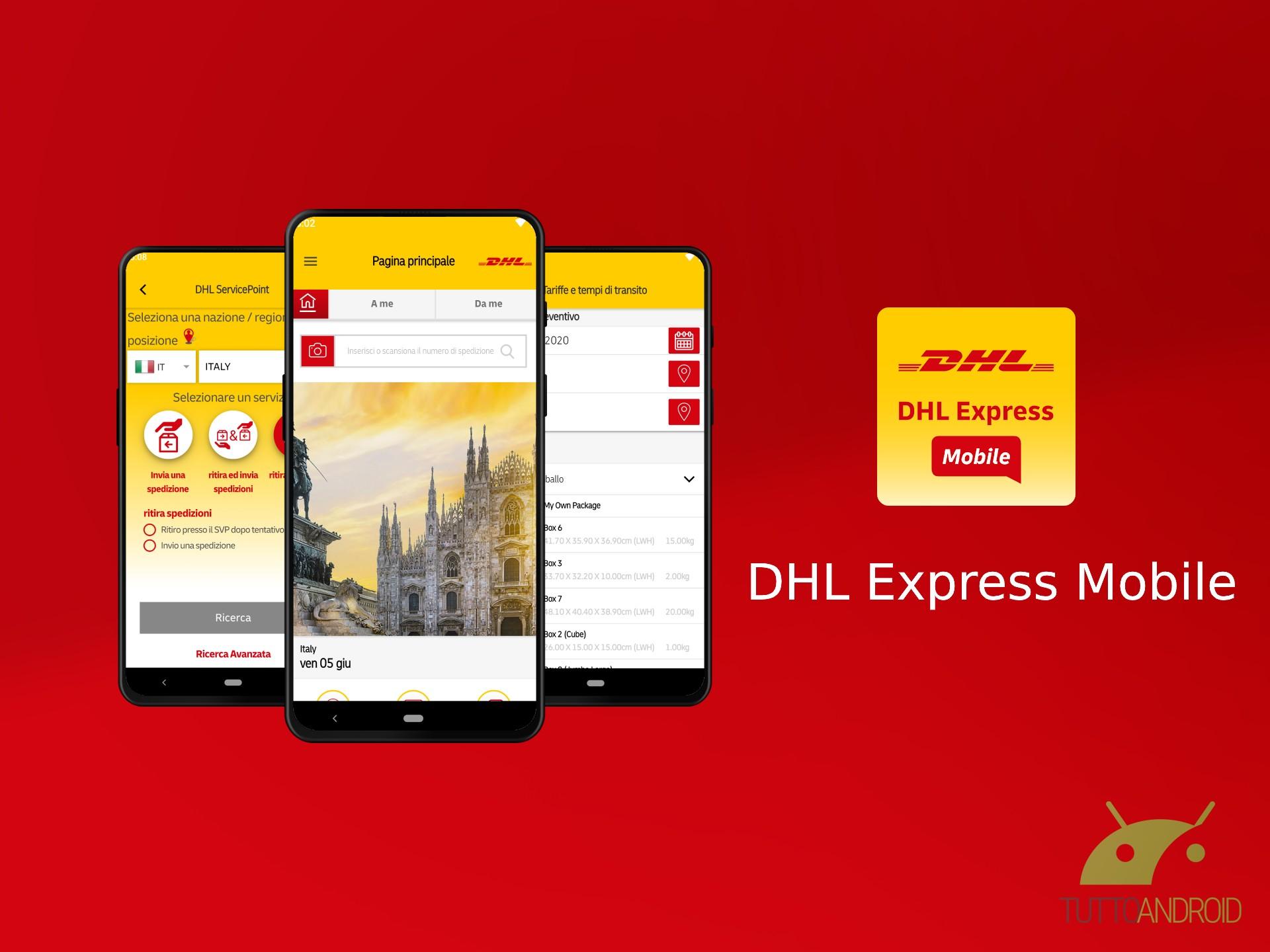 DHL Express Mobile permette di gestire comodamente tutte le