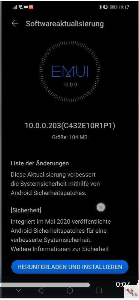 aggiornamento patch di sicurezza di maggio 2020 per Huawei Mate 20 Lite